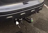 tow bar on the back of a car