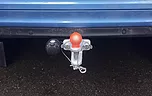 mobile towbar tow fitting of a ball and pin tow bar