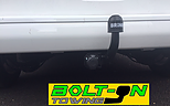 mobile towbar fitting of a fixed swan neck tow bar